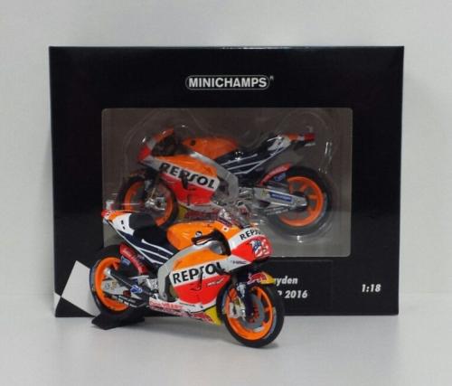 MINICHAMPS NICKY HAYDEN 1/18 #69 MODELLINO HONDA MOTOGP RC213V GP AUSTRALIA 2016 NEW
