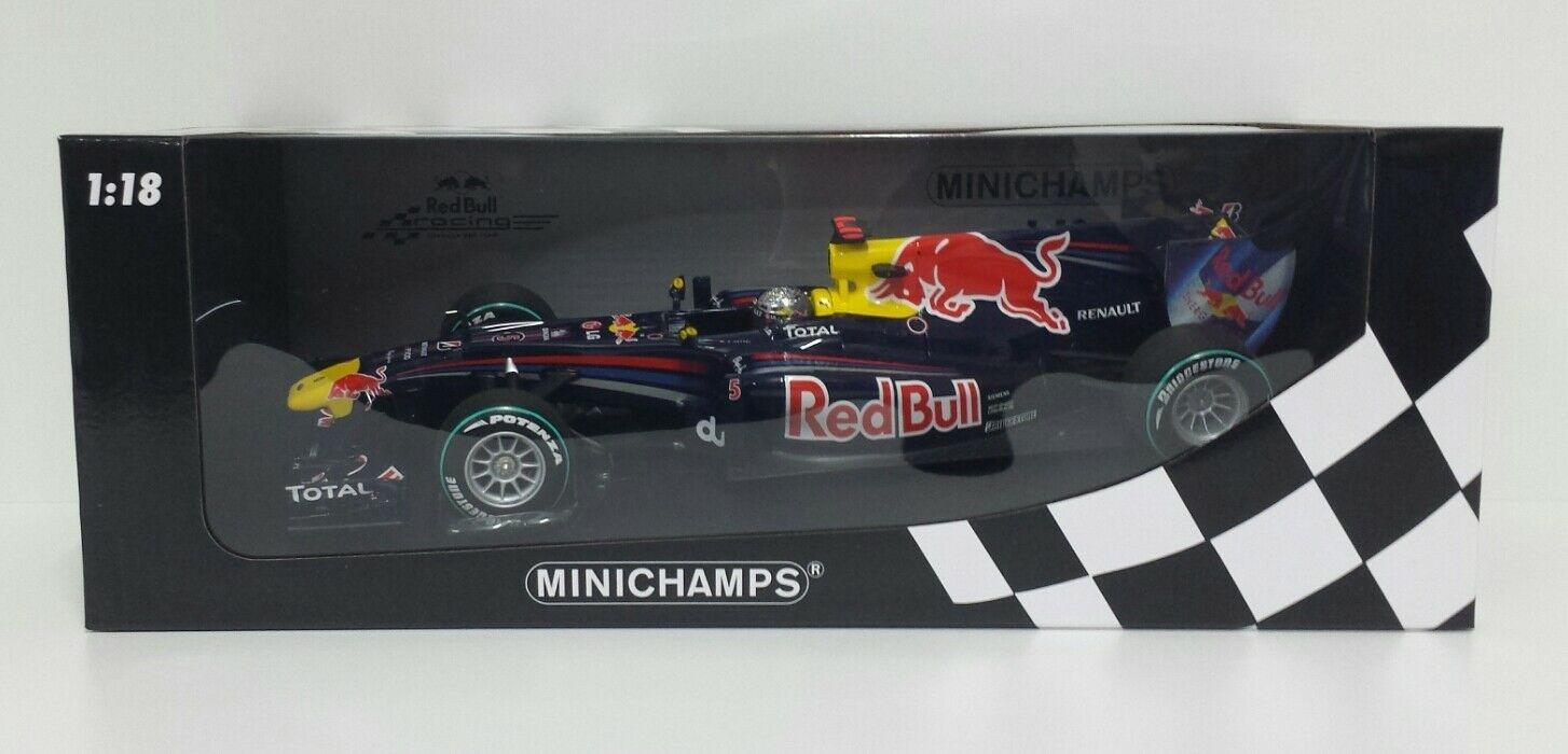 MINICHAMPS SEBASTIAN VETTEL 1/18 REDBULL RENAULT F1 WINNER GP ABU DHABI 2010 USATO