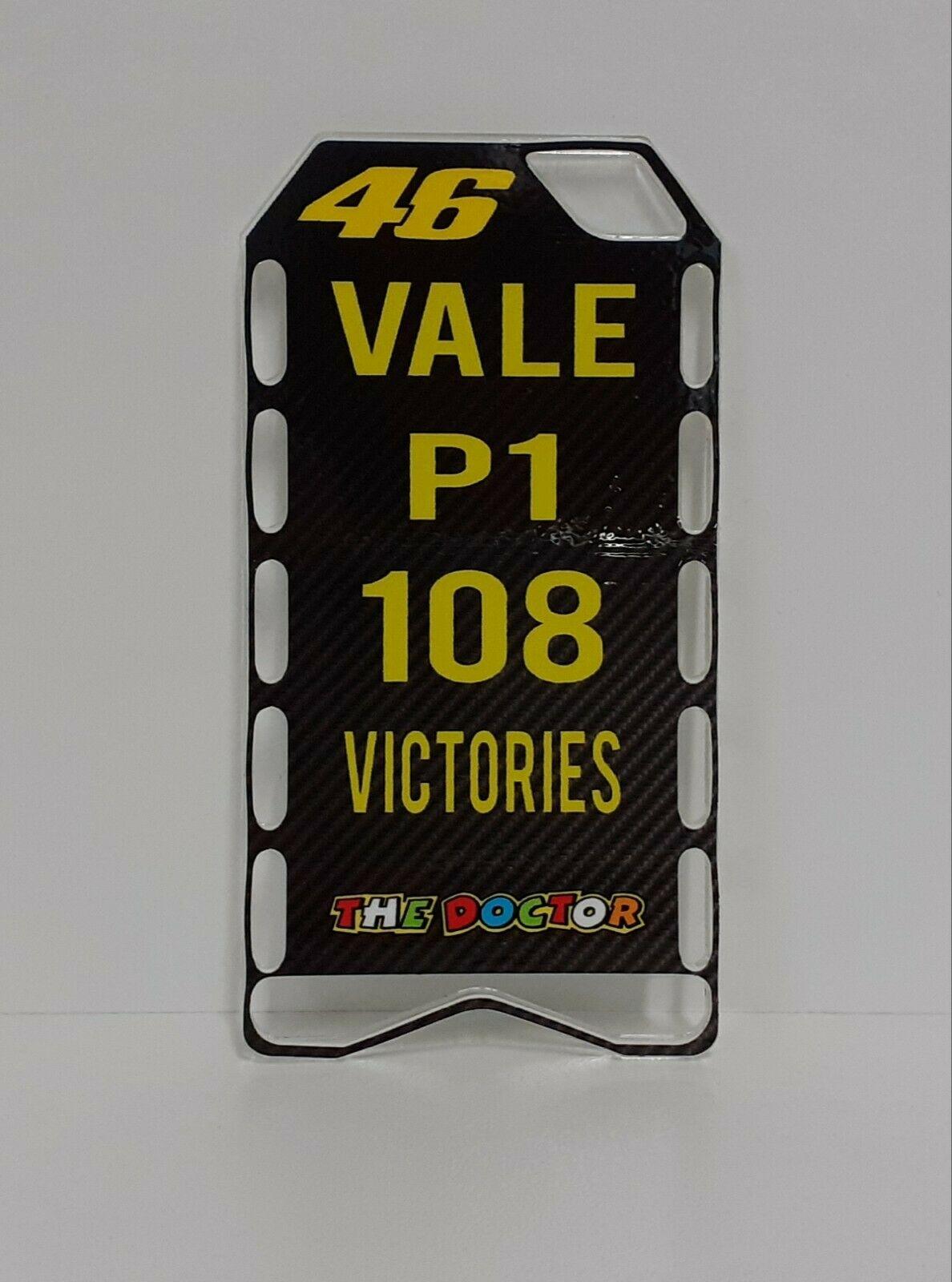 MINICHAMPS V.ROSSI PITBOARDS 108 VITTORIE MOTOGP SCALA 1/12 NEW