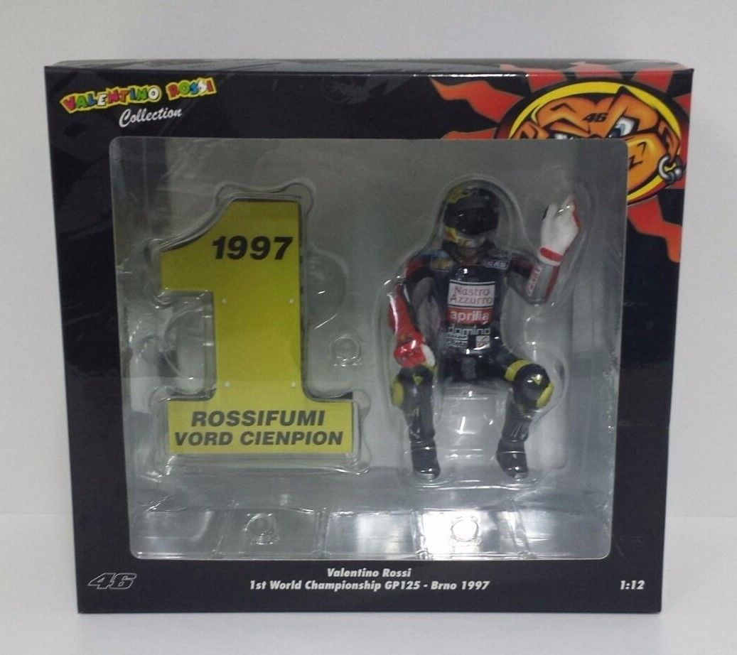MINICHAMPS VALENTINO ROSSI 1/12 1ST WORLD CHAMPIONSHIP GP125 BRNO 1997 NEW