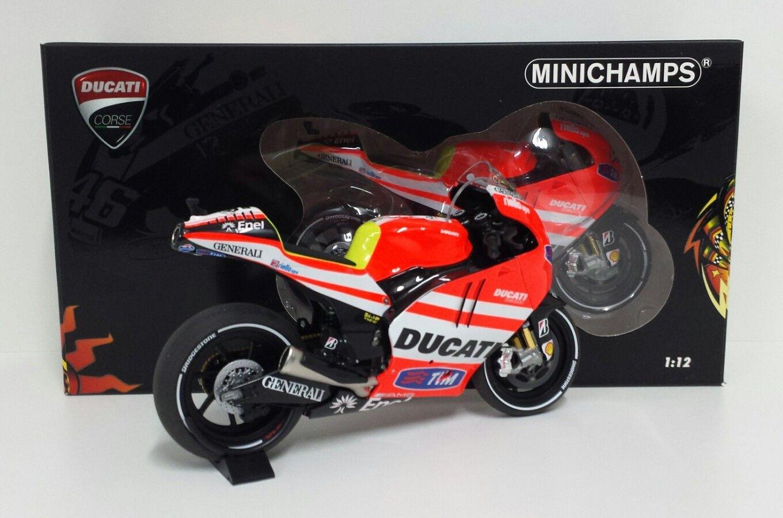 Bikes: MINICHAMPS VALENTINO ROSSI 1/12 DUCATI DESMOSEDICI GP 11.1 MOTOGP 2011 NEW