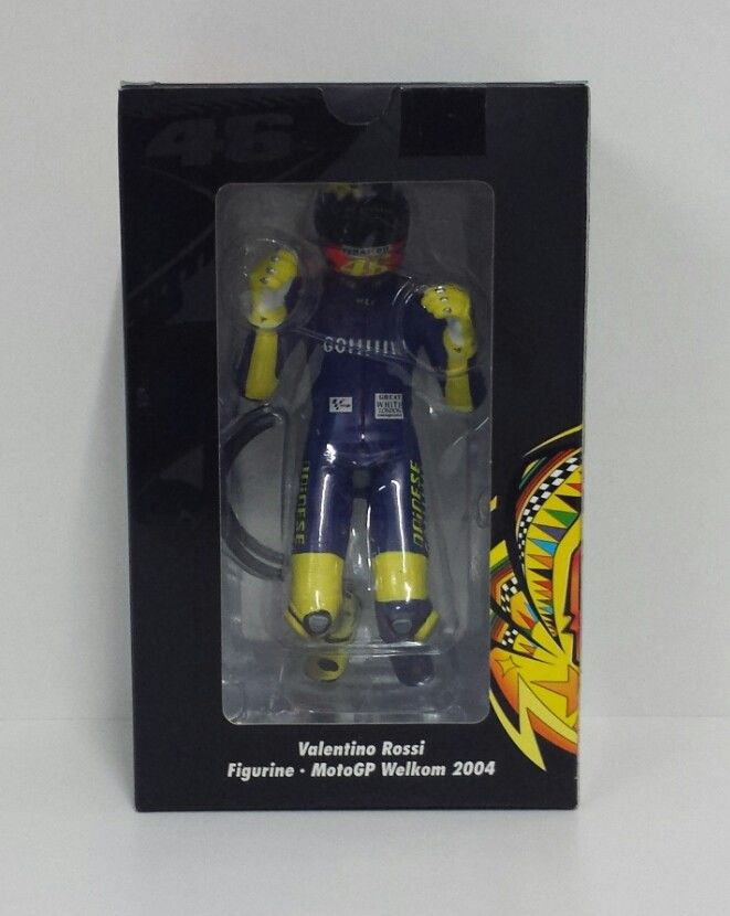 MINICHAMPS VALENTINO ROSSI 1/12 FIGURA MOTOGP 2004 THE KISS GP SOUTH AFRICA RARE