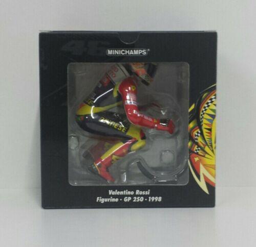 MINICHAMPS VALENTINO ROSSI 1/12 MODELLINO FIGURA PILOTA RIDING ´WHEELIE´ 250cc 1998 NEW