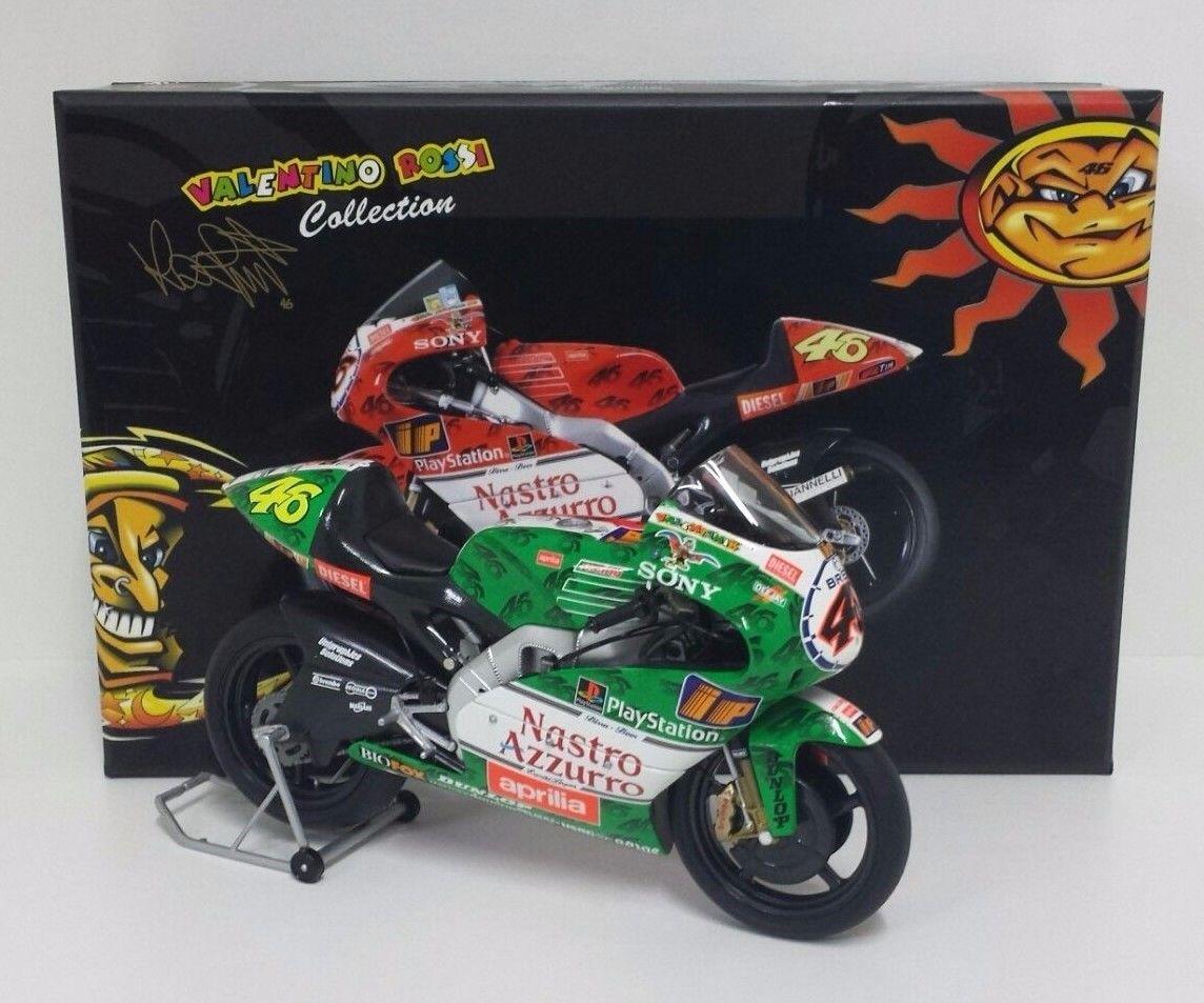 MINICHAMPS VALENTINO ROSSI 1/12 MODELLINO MOTO APRILIA RSW 250cc GP IMOLA 1999 ITALIA NEW