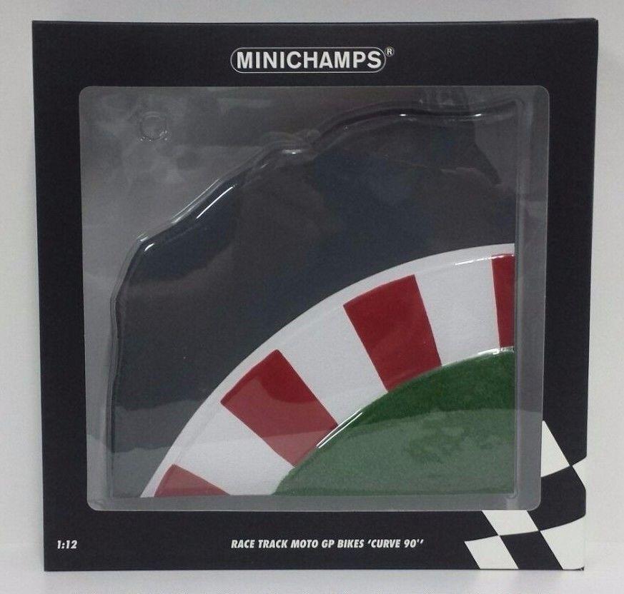 MINICHAMPS VALENTINO ROSSI 1/12 RACE TRACK MOTOGP BIKES - ´CURVE 90°´ NEW