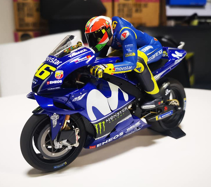 MINICHAMPS VALENTINO ROSSI 1/12 SET YAMAHA YZR M1 MOVISTAR MOTOGP POLE POSITION GP MUGELLO 2018 CON FIGURA NEW