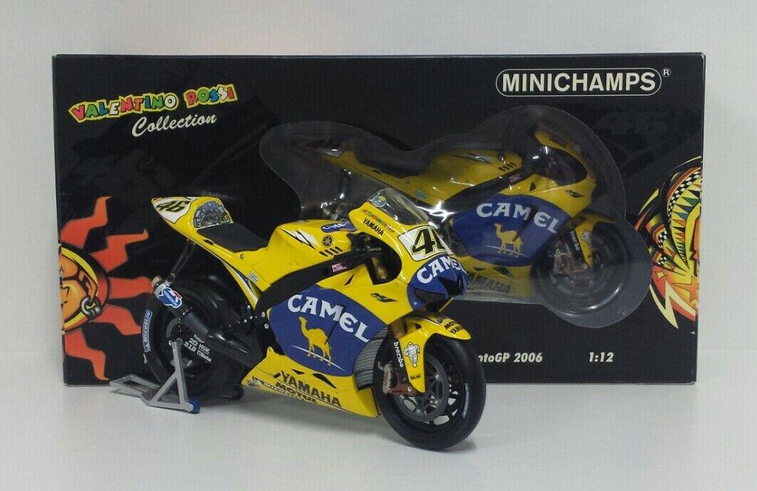 MINICHAMPS VALENTINO ROSSI 1/12 YAMAHA M1 MOTOGP CAMEL WINNER GP MUGELLO 2006 -43 PUNTI