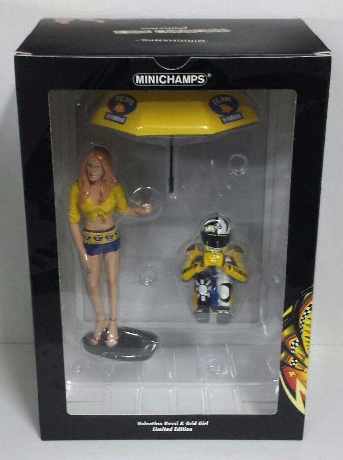 MINICHAMPS VALENTINO ROSSI 1/12 - YAMAHA GRID GIRL + V ROSSI MOTOGP 2006 NEW