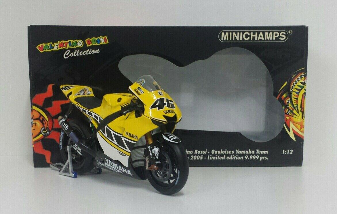 MINICHAMPS VALENTINO ROSSI 1/12 YAMAHA MOTOGP LAGUNA SECA 2005 RARE