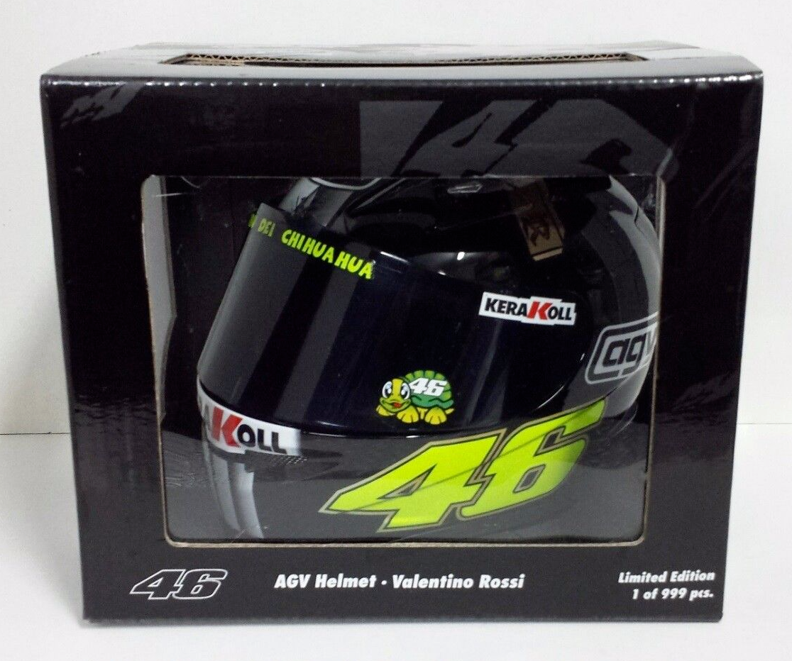 MINICHAMPS VALENTINO ROSSI 1/2 - AGV HELMET MOTOGP TEST JEREZ 2007 NEW