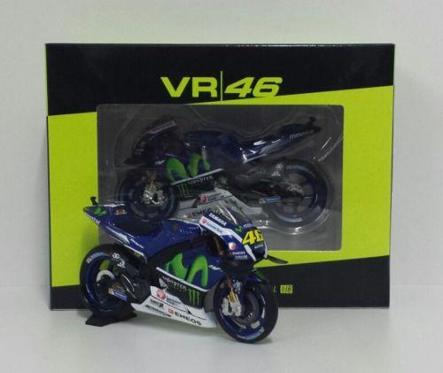 MINICHAMPS VR/46 VALENTINO ROSSI 1/18 MODELLINO YAMAHA M1 MOVISTAR MOTOGP 2016