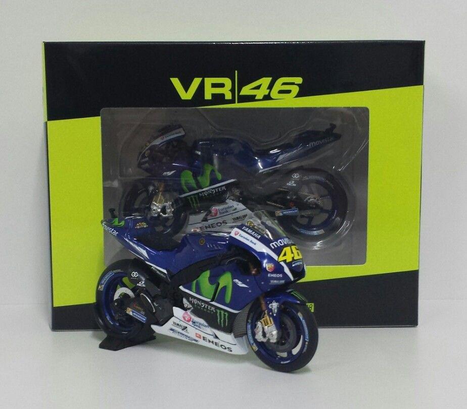 MINICHAMPS VR/46 VALENTINO ROSSI 1/18 YAMAHA M1 MOVISTAR TESTBIKE MOTOGP 2016