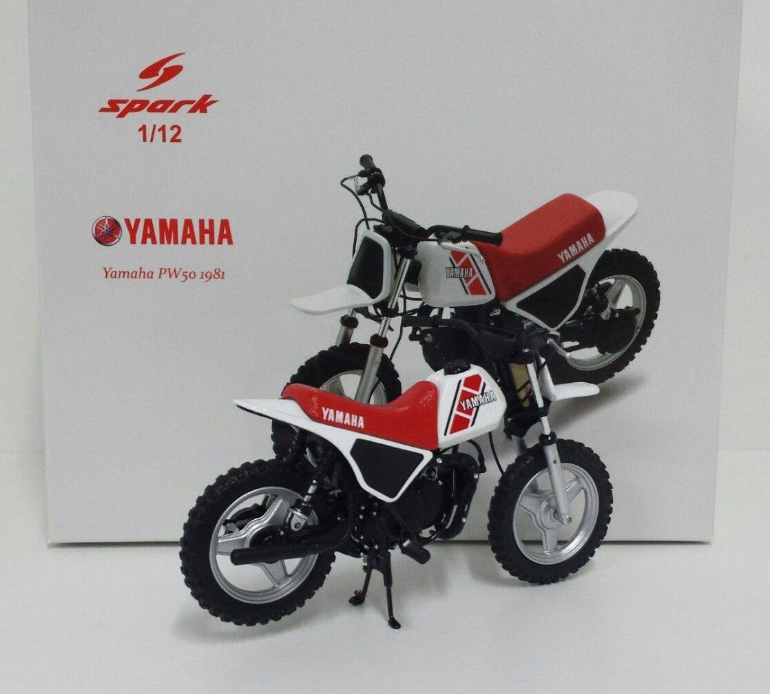 Bikes: MODEL BIKE 1/12 SPARK YAMAHA PW50 MINIBIKE 1981 MINICROSS ENDURO DIE  CAST M12025 NEW