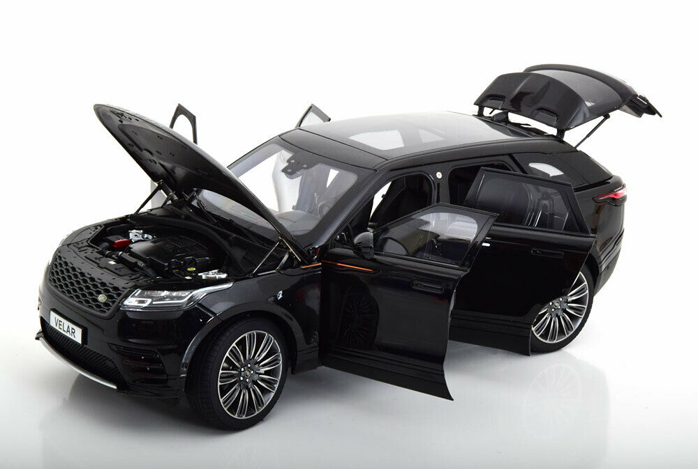 LCD MODELS 1/18 MODELLINO AUTO DIE CAST LAND ROVER RANGE ROVER VELAR 2018 NERO
