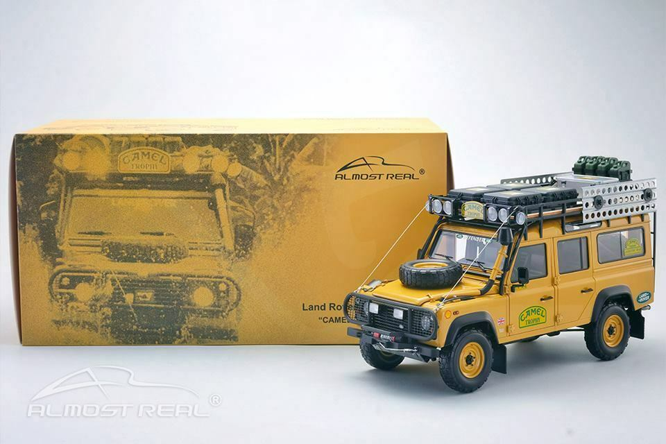 ALMOST REAL 1/18 MODELLINO AUTO DIECAST LAND ROVER DEFENDER 110 TDI CAMEL TROPHY