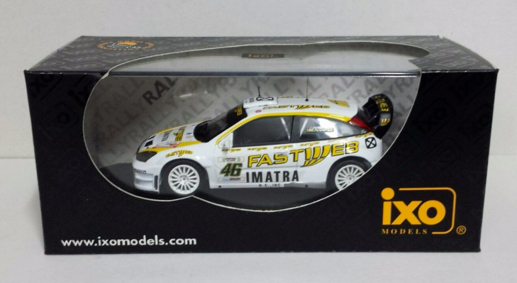 IXO 1-43 VALENTINO ROSSI 46 FORD FOCUS RS WRC MONZA RALLY SHOW 2006 NEW (1)