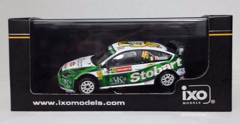 """IXO 1//43 VALENTINO ROSSI AUTO FORD FOCUS WRC /""""WALES GB RALLY 2008/"""" LIMITED NEW"""