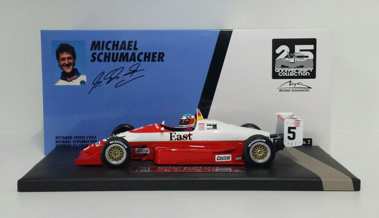 MINICHAMPS 1/18 MODELLINO AUTO REYNARD SPIESS SCHUMACHER GERMAN F3 CHAMPION 1990
