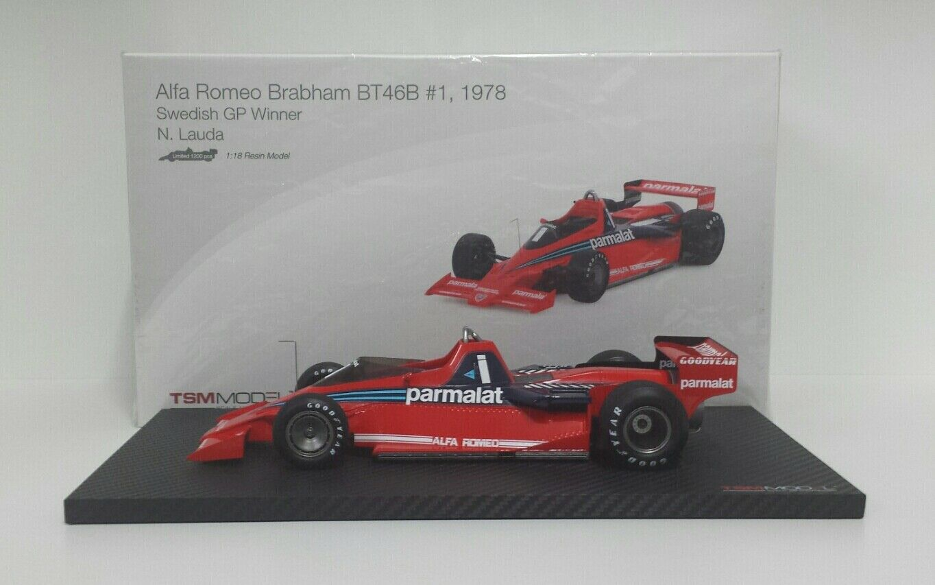 TRUE SCALE MINIATURES 1/18 MODEL CAR F1 BRABHAM BT46B ALFA ROMEO NIKI LAUDA