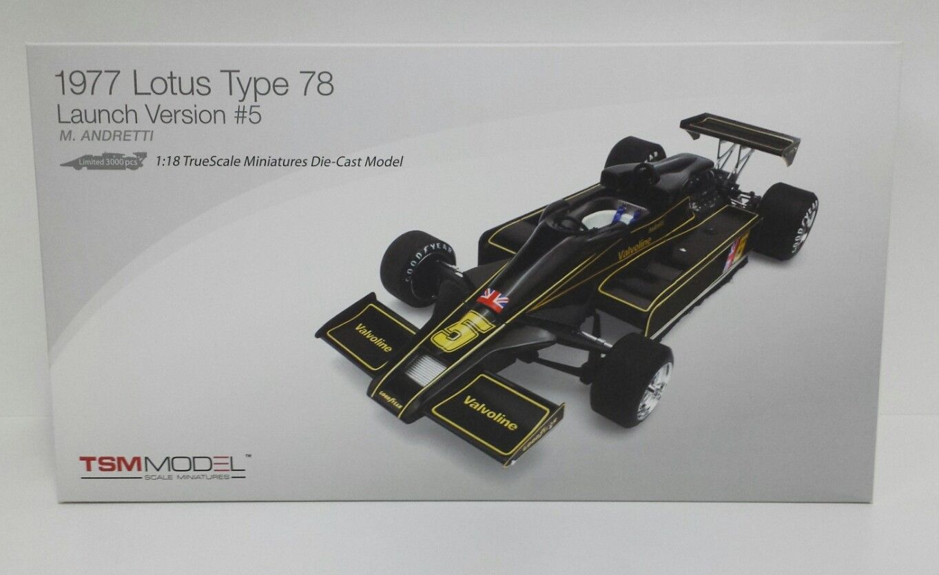 TRUE SCALE 1:18 TSM MODELLINO LOTUS TYPE 78 LAUNCH VERSION #5 ANDRETTI 1977 NEW