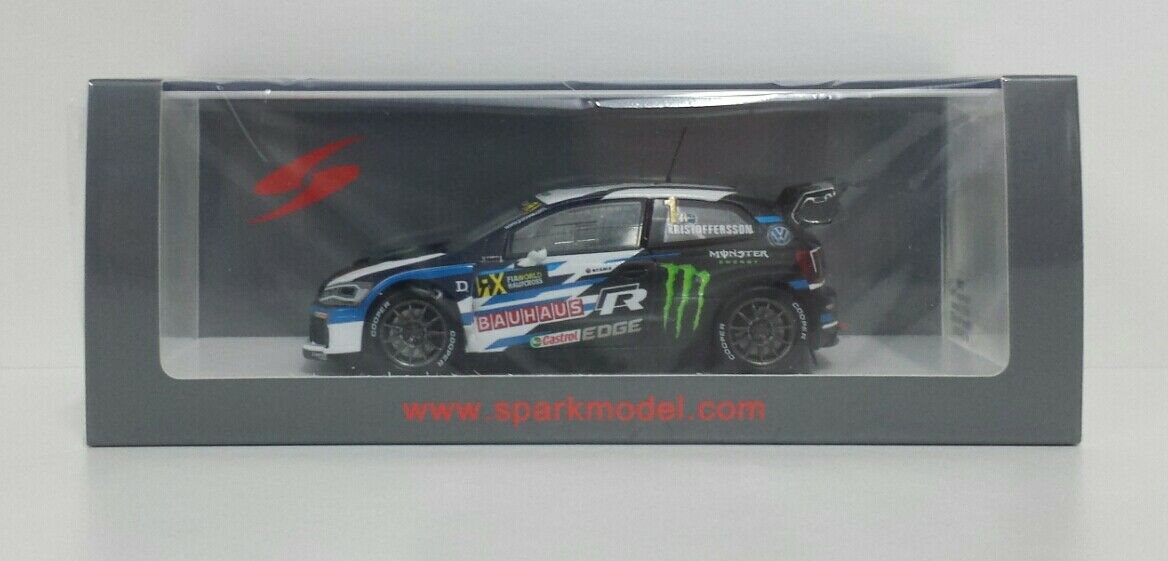 SPARK 1/43 MODELLINO AUTO RALLY CROSS VOLKSWAGEN POLO GTI WRX USA 2018 DIE CAST