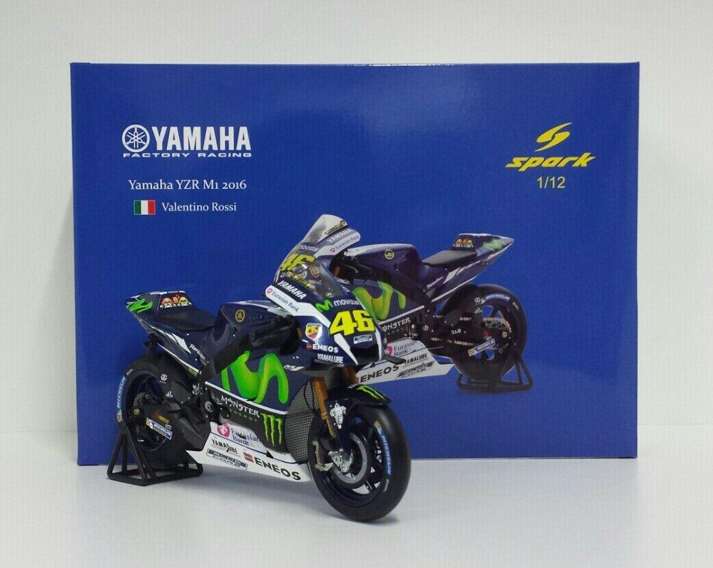 SPARK 1/12 MODELLINO MOTO YAMAHA M1 VALENTINO ROSSI GP JEREZ 2016 MOTOGP DIECAST