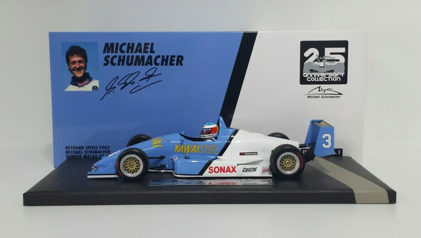 MINICHAMPS 1/18 MODELLINO AUTO REYNARD SPIESS F903 MICHAEL SCHUMACHER MACAU 1990