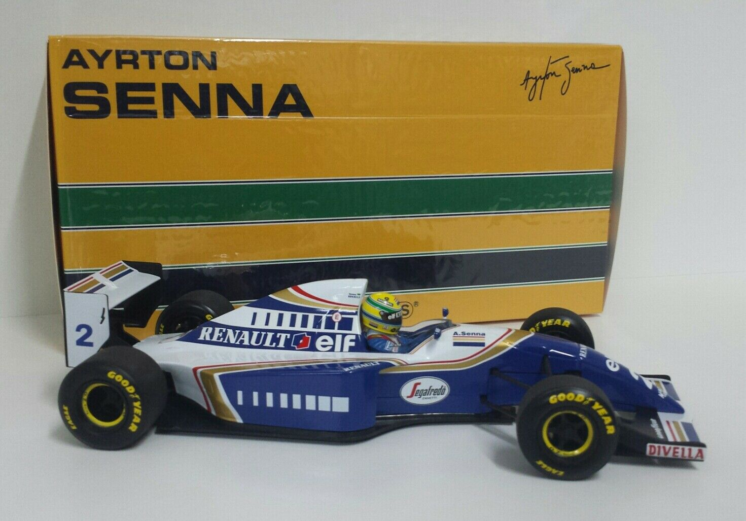 MINICHAMPS AYRTON SENNA 1/18 MODELLINO DIECAST AUTO F1 WILLIAMS RENAULT 1994 NEW