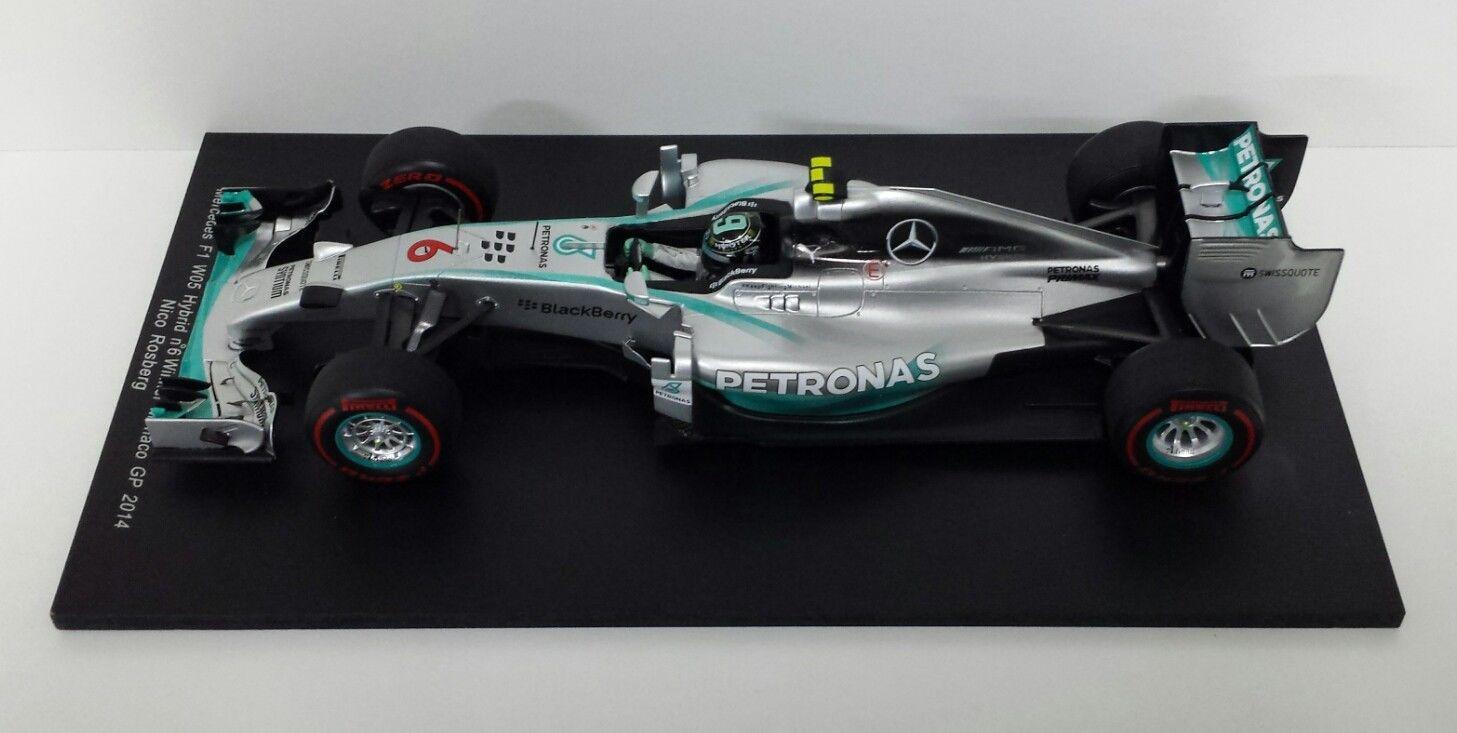 SPARK 1/18 MODELLINO F1 MERCEDES W05 NICO ROSBERG GP MONTECARLO 2014 18S141 NEW