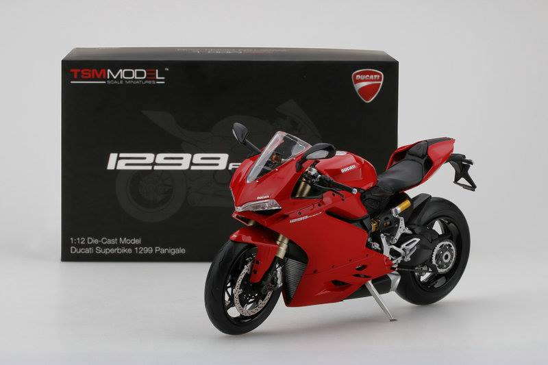 TRUE SCALE MINIATURES 1/12 MODELLINO MOTO DUCATI 1299 PANIGALE RED TSM MODEL NEW