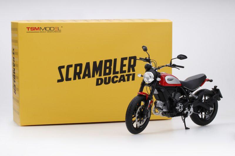 TRUE SCALE MINIATURES 1/12 MODELLINO MOTO DUCATI SCRAMBLER 2015 ROSSO TSM MODEL NEW
