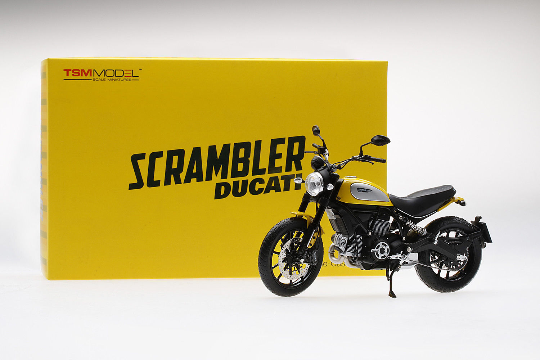 TRUE SCALE MINIATURES 1/12 MOTO DUCATI SCRAMBLER CLASSIC 803cc ORANGE SUNSHINE TSM MODEL NEW