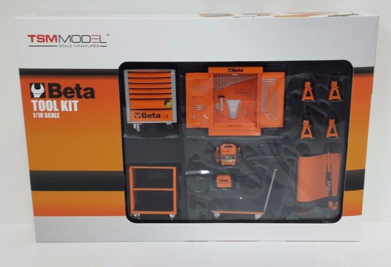 TRUE SCALE MINIATURES 1:18 TSM ACCESSORI GARAGE BETA TOOL KIT PER DIORAMA AUTO
