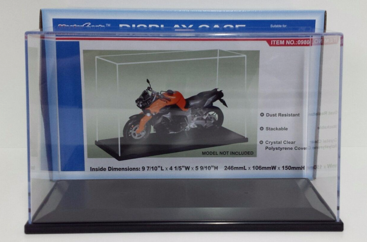 DISPLAY SHOWCASES IN PLEXIGLASS SCALE 1/12 FOR MODELS BIKE MINICHAMPS MOTOGP NEW